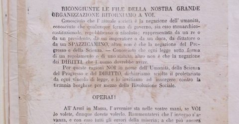 «Non più parole. Il primo dovere dello schiavo è quello d'insorgere, il primo dovere del soldato è quello di disertare». Questo si legge nell'appello del Comitato italiano per la rivoluzione […]